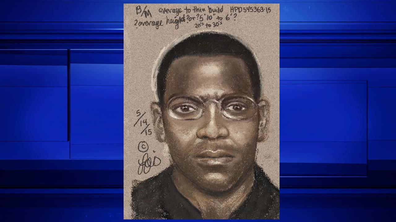 A sketch of the suspect in two shootings in the Third Ward