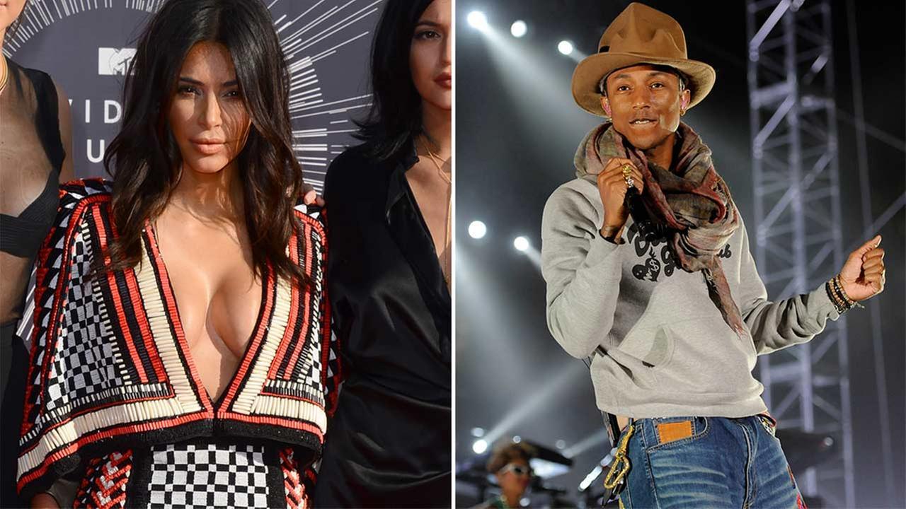 Kim Kardashian, Pharrell Williams