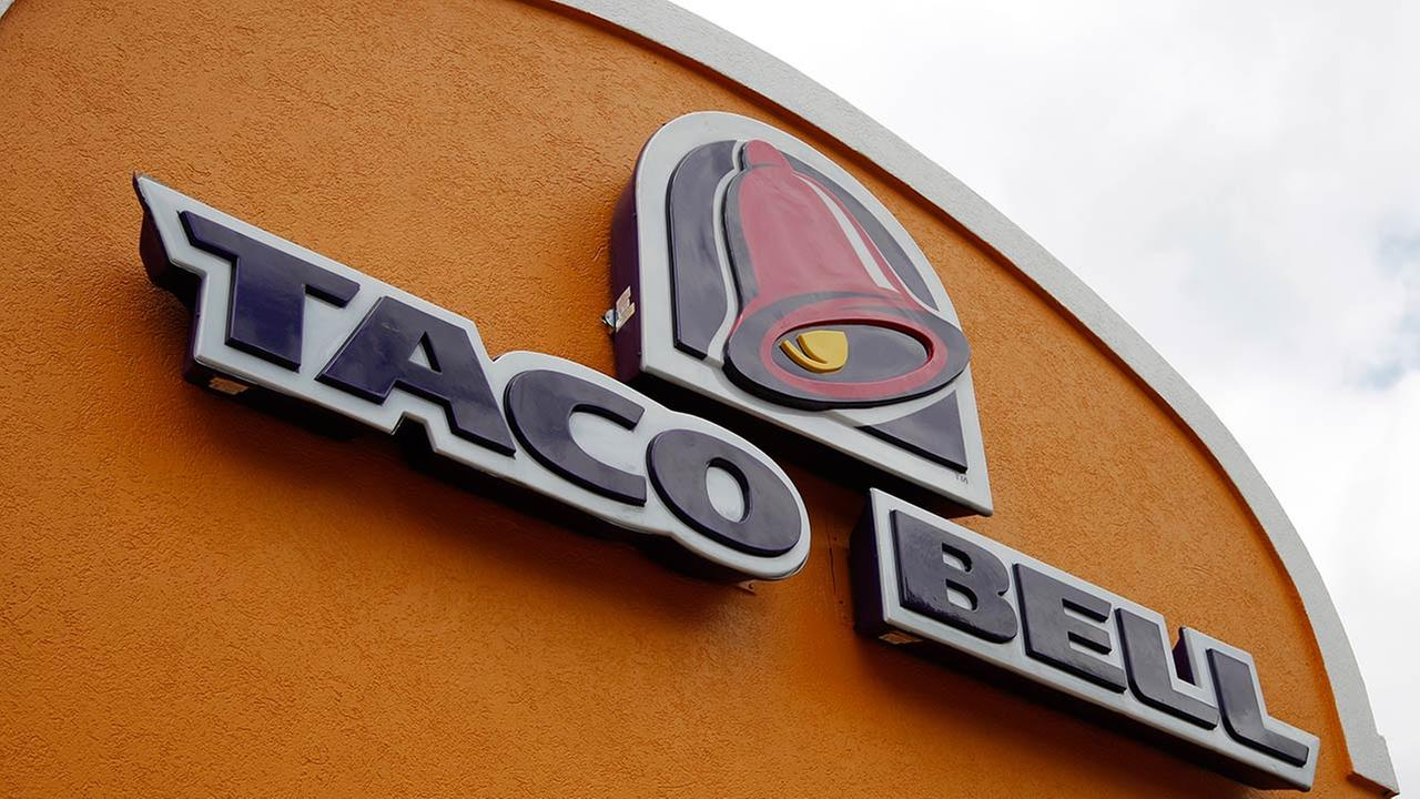 This Friday, May 23, 2014 photo shows the sign at a Taco Bell in Mount Lebanon, Pa.
