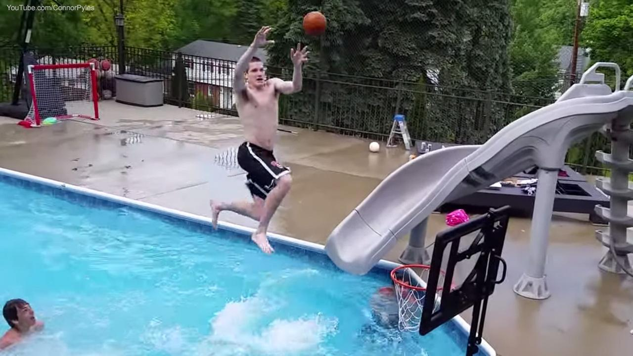 Video shows guys pulling off incredible pool basketball for Pool guy show