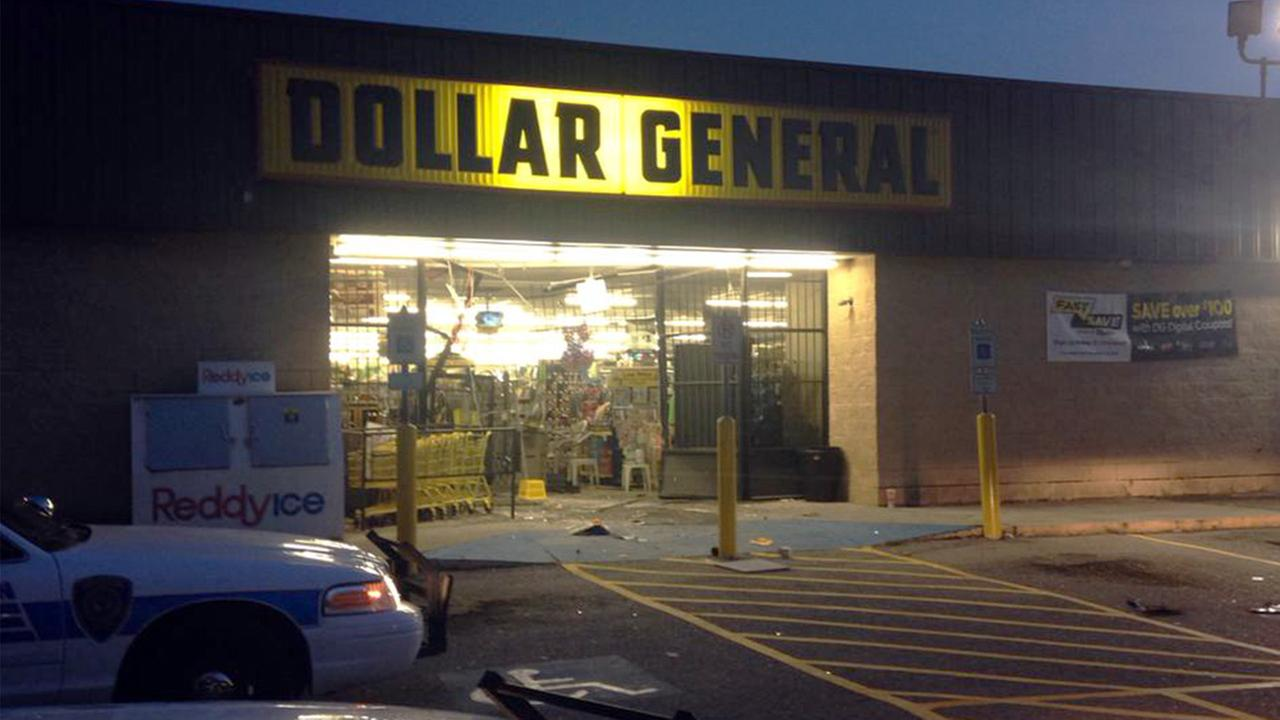 Damage to Dollar General store