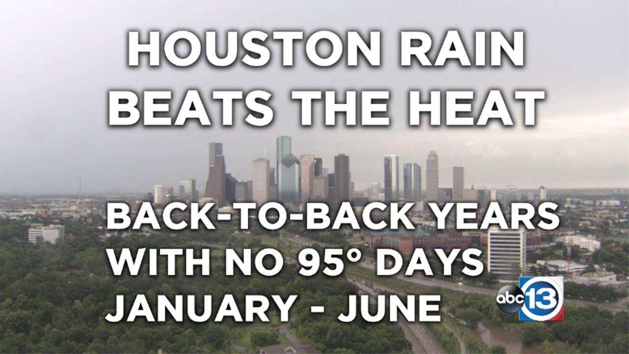 Houston rain beats the heat