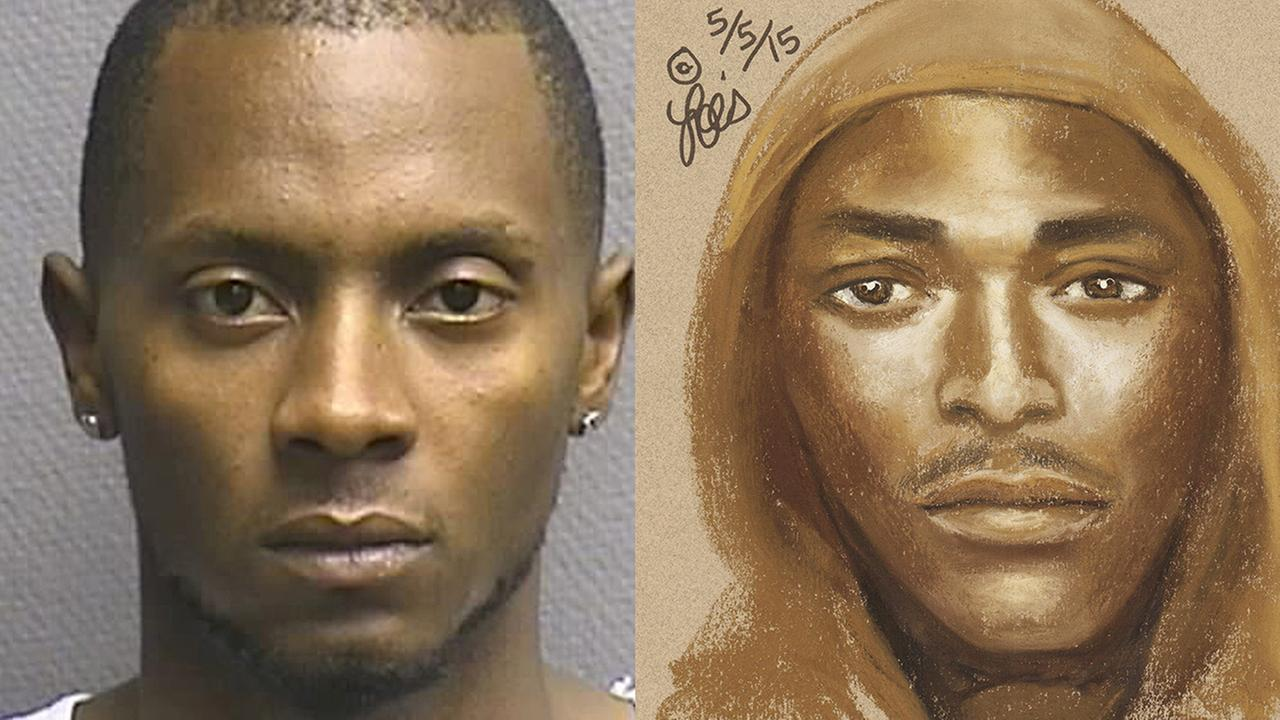 Lemann Brown, left, and a Houston Police Department sketch