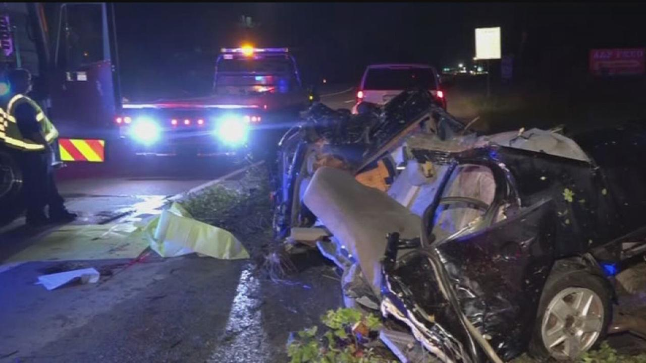 Scene of a deadly crash in Montgomery County