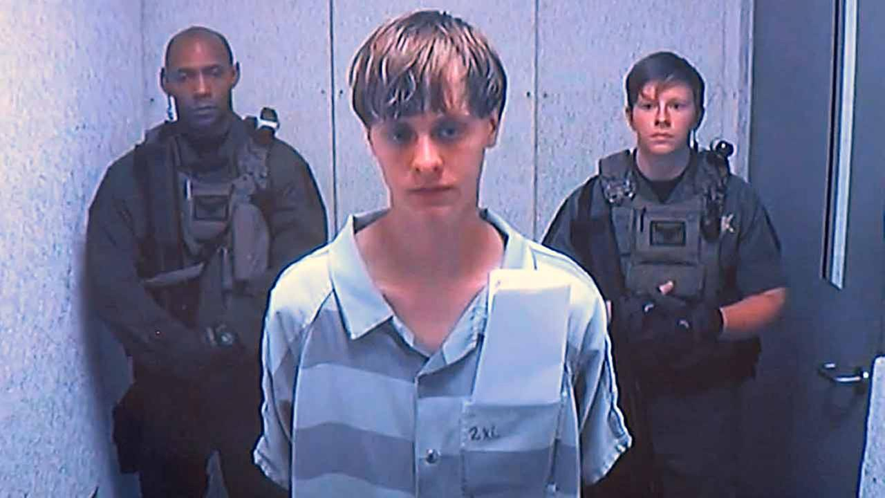 In this June 19, 2015 photo, Dylann Storm Roof appears via video before a judge, in Charleston, S.C.