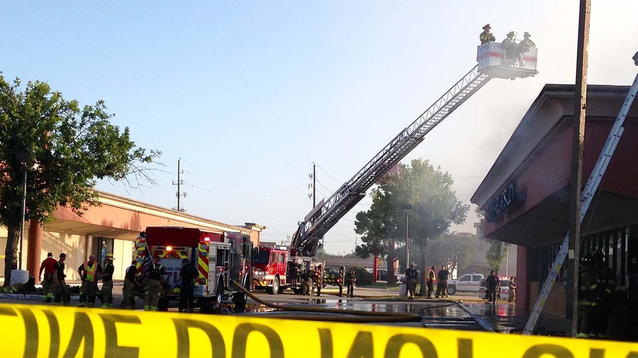 Fire at Barneys Billiards Saloon