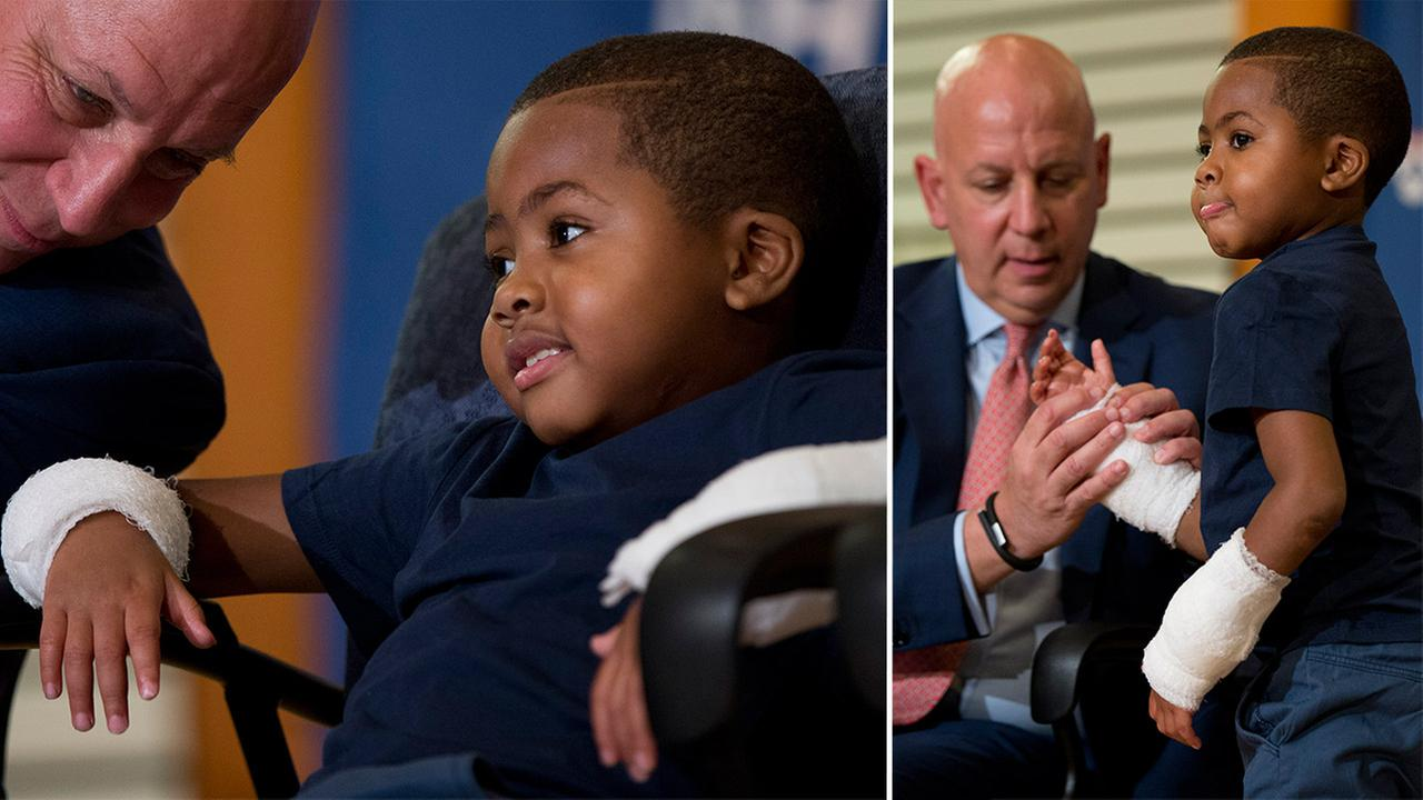 Boy gets double hand transplant