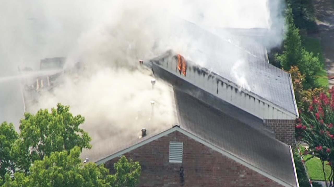 A two-alarm fire in the Galleria area