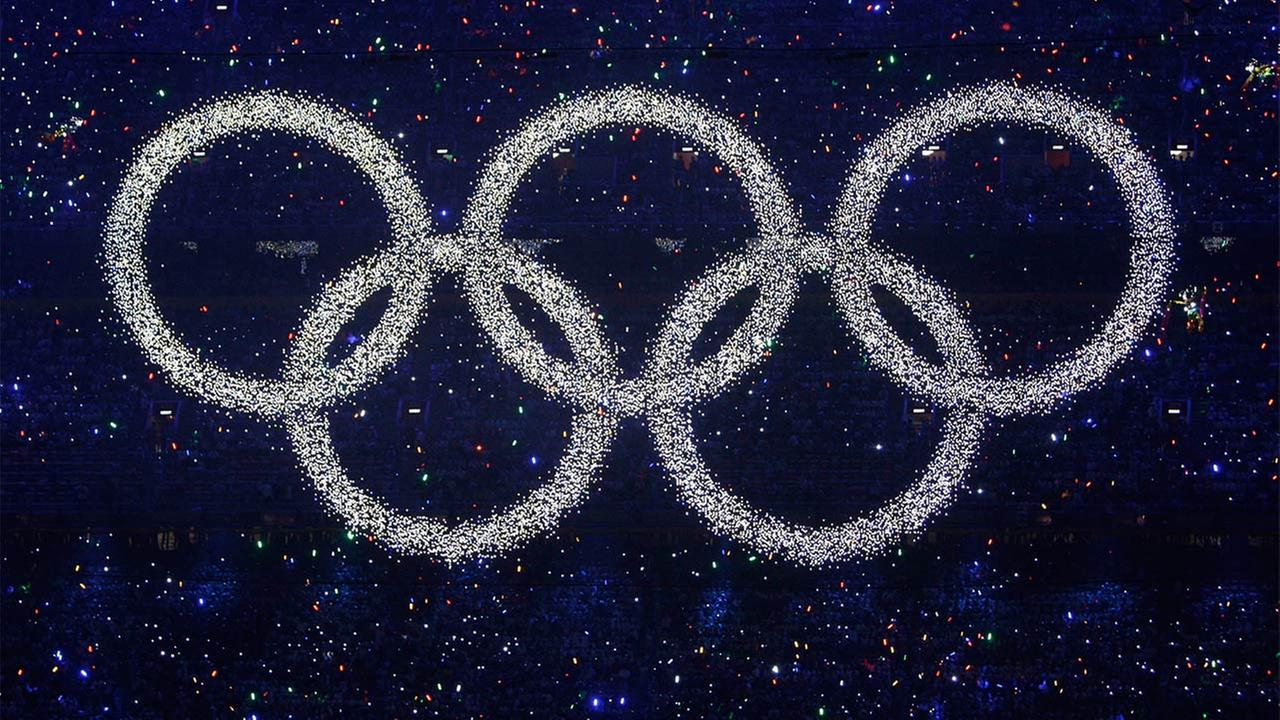 The five-ring Olympic symbol