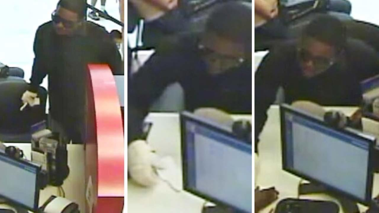 Images of the so-called bandaged bandit