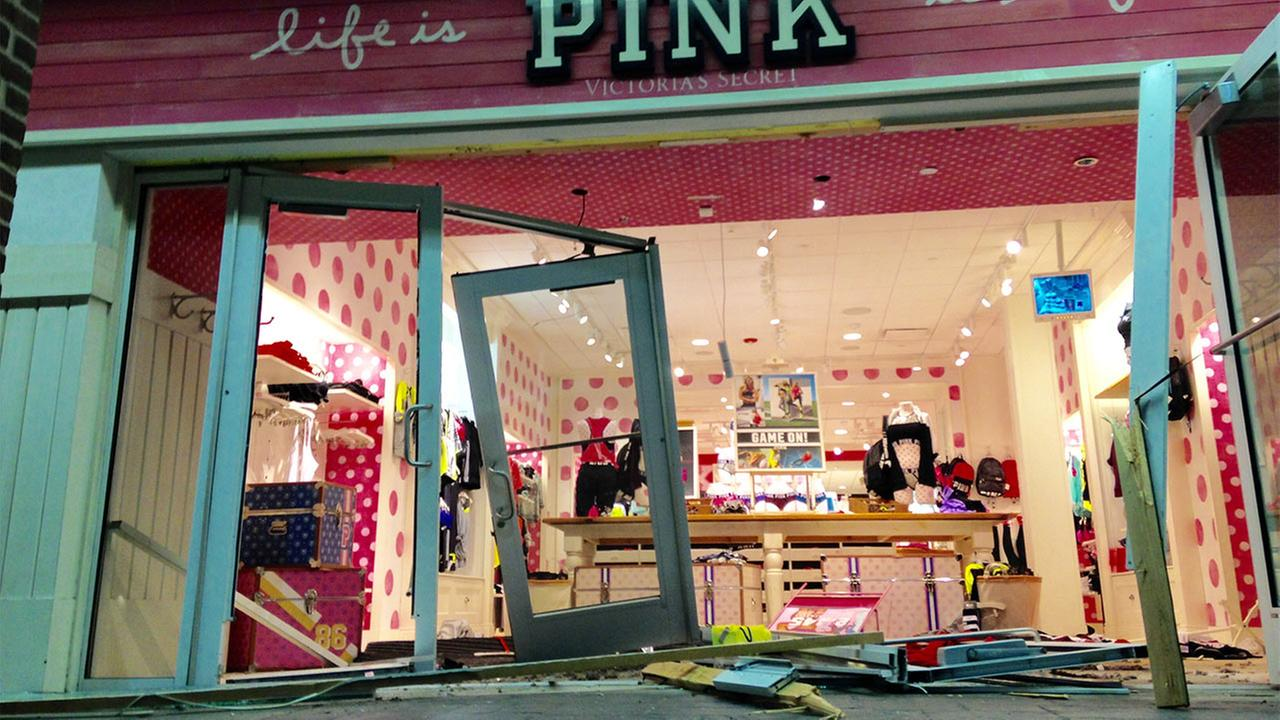 Damaged store front
