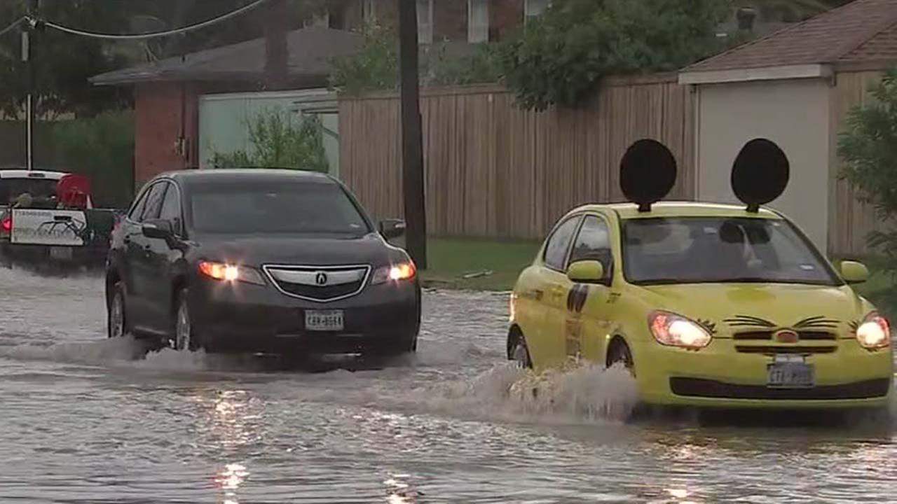 Coastal rain floods streets