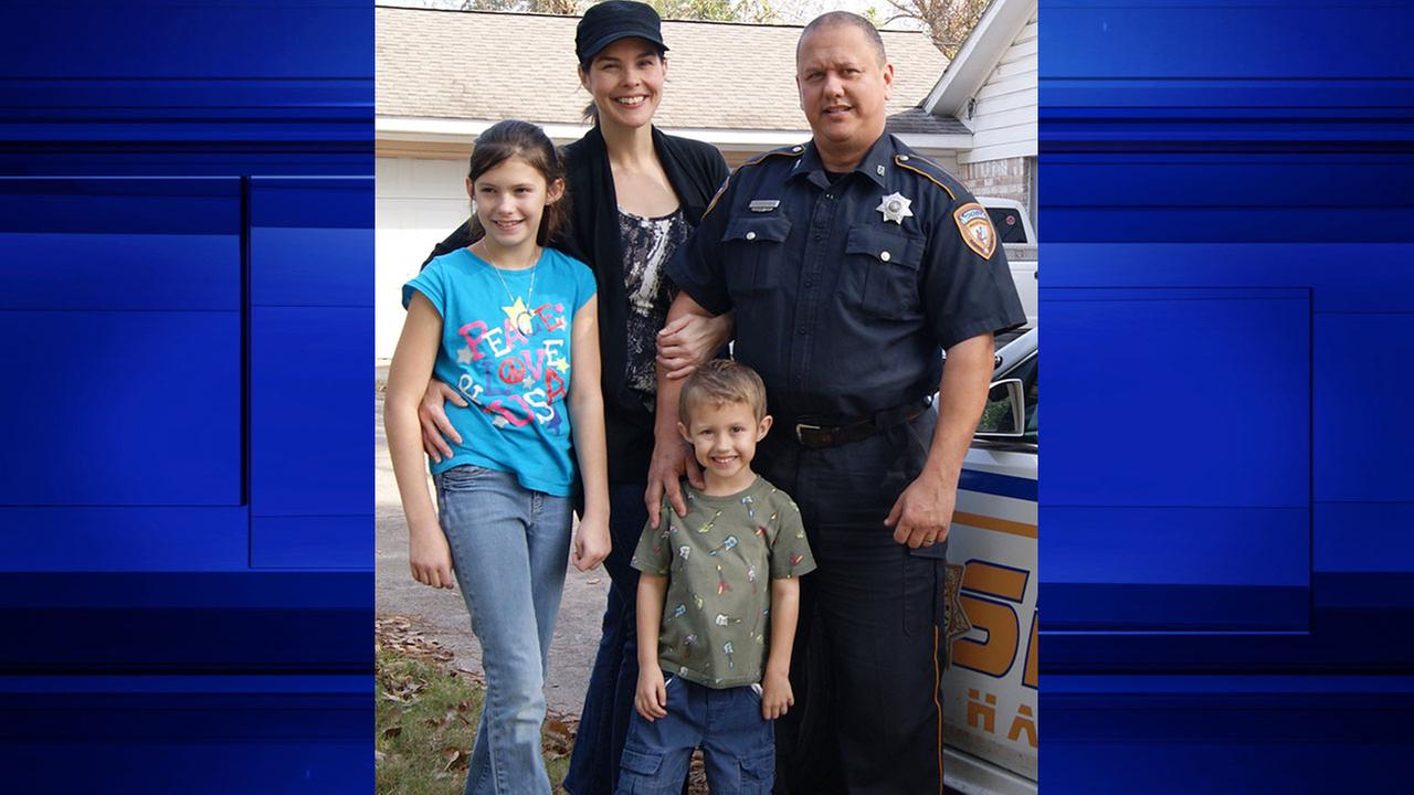 Deputy Darren Goforth and his family.