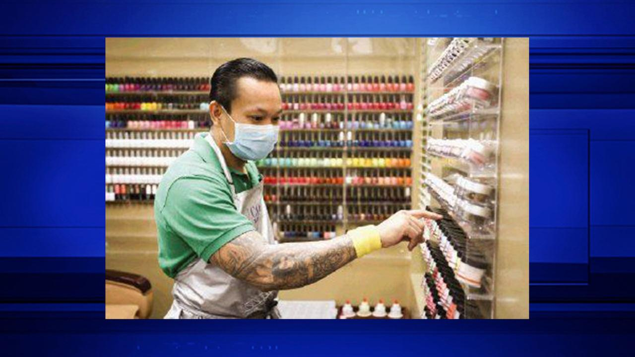 Tan Nguyen, an award-winning nail artist who is the only male left in the national Next Top Nail Artist competition.