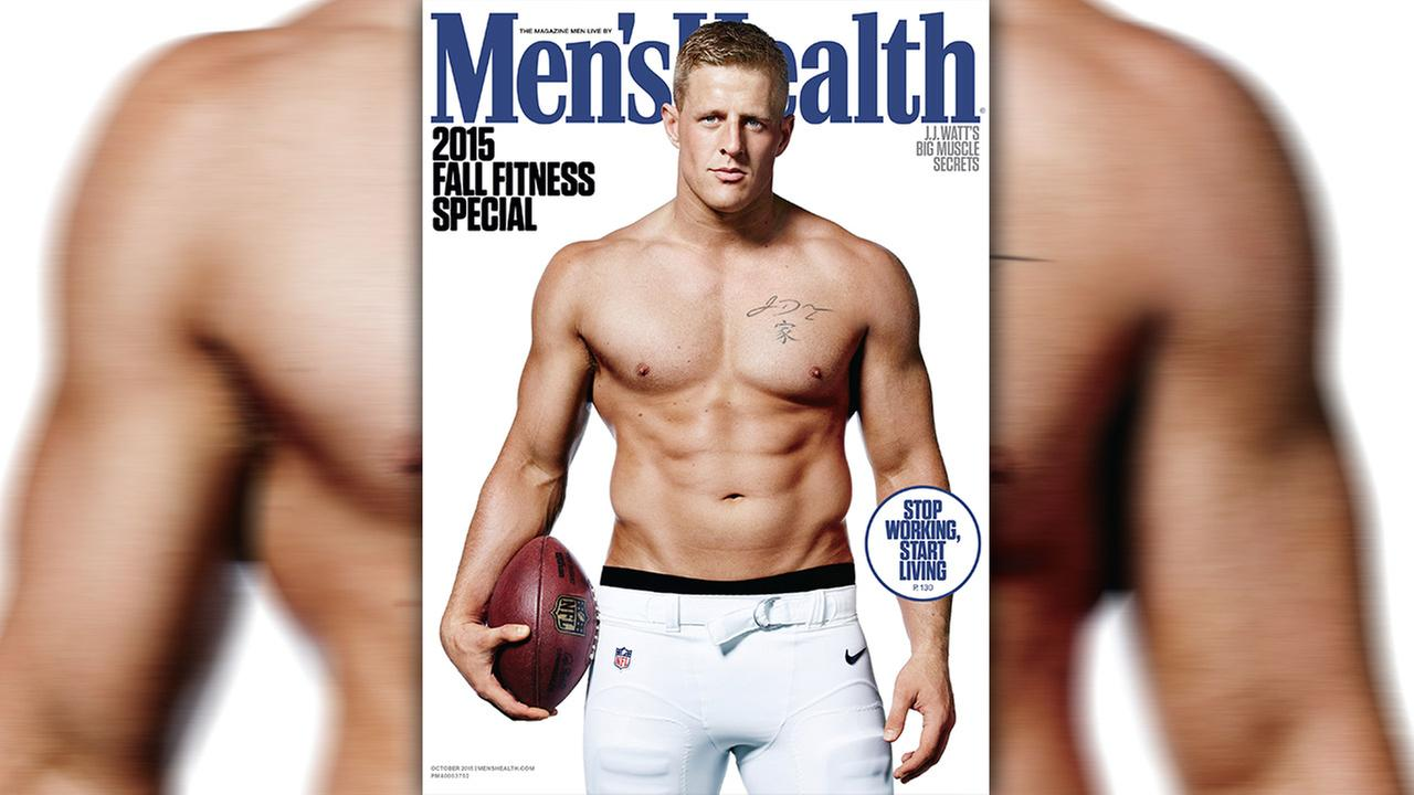 Image result for jj watt men's health issue
