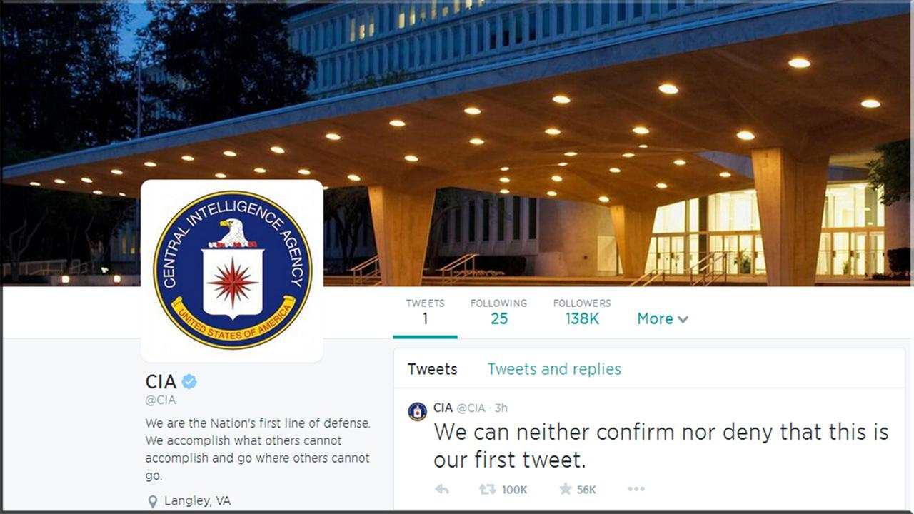 cia twitter page