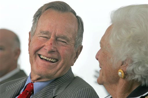 <div class='meta'><div class='origin-logo' data-origin='none'></div><span class='caption-text' data-credit='AP Photo'>Former President George H.W. Bush is celebrating his 90th birthday at his family's seaside retreat in Maine.</span></div>