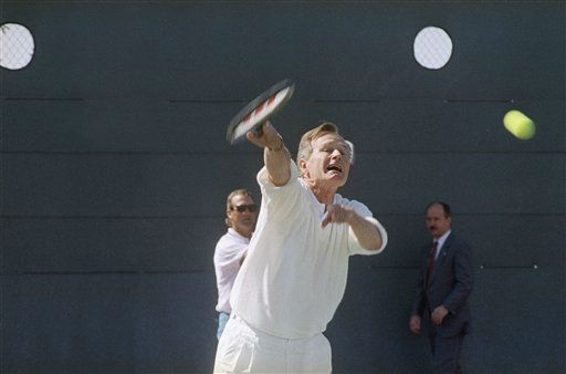 "<div class=""meta image-caption""><div class=""origin-logo origin-image none""><span>none</span></div><span class=""caption-text"">President George H. Bush playing tennis in California in April of 1991. (AP Photo/ R1 PO. PEC)</span></div>"