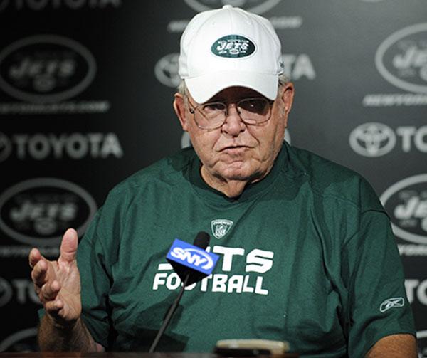 <div class='meta'><div class='origin-logo' data-origin='none'></div><span class='caption-text' data-credit='ASSOCIATED PRESS'>Buddy Ryan, father of New York Jets coach Rex Ryan, talks to the media  at Jets football minicamp, Tuesday, June 9, 2009 in Florham Park, N.J. (AP Photo/Bill Kostroun)</span></div>