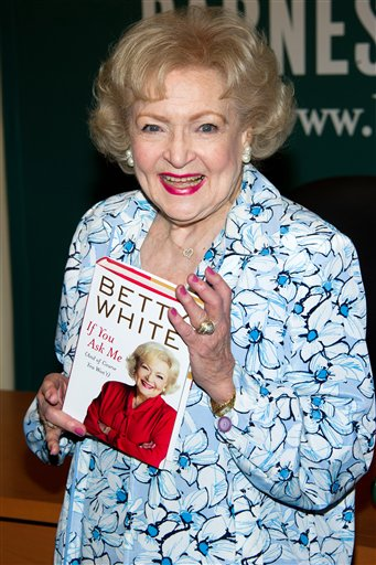 <div class='meta'><div class='origin-logo' data-origin='none'></div><span class='caption-text' data-credit='ASSOCIATED PRESS'>Betty White attends a book signing for her book 'If You Ask Me (And Of Course You Won't)' at Barnes & Noble in New York, Friday, May 6, 2011. (AP Photo/Charles Sykes)</span></div>