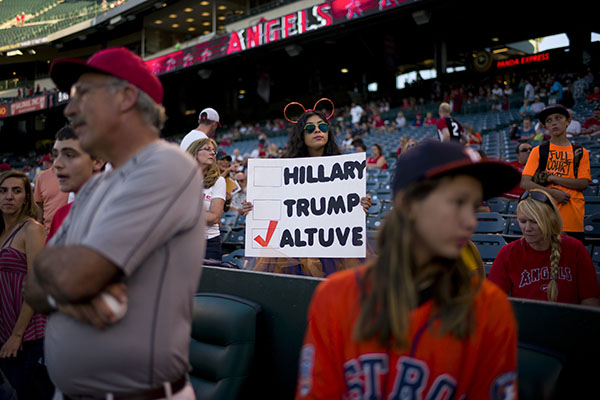 "<div class=""meta image-caption""><div class=""origin-logo origin-image ap""><span>AP</span></div><span class=""caption-text"">Astros second baseman Jose Altuve has been A fan holds a sigh for Houston Astros' Jose Altuve before a baseball game between the Los Angeles Angels and the Houston Astros. (AP Photo/Jae C. Hong)</span></div>"