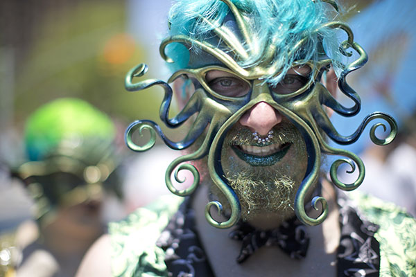 "<div class=""meta image-caption""><div class=""origin-logo origin-image ap""><span>AP</span></div><span class=""caption-text"">A participant poses for a photo in the staging area before marching in the 34th Annual Mermaid Parade, Saturday, June 18, 2016, in New York's Coney Island. (AP Photo/Mary Altaffer) (AP)</span></div>"