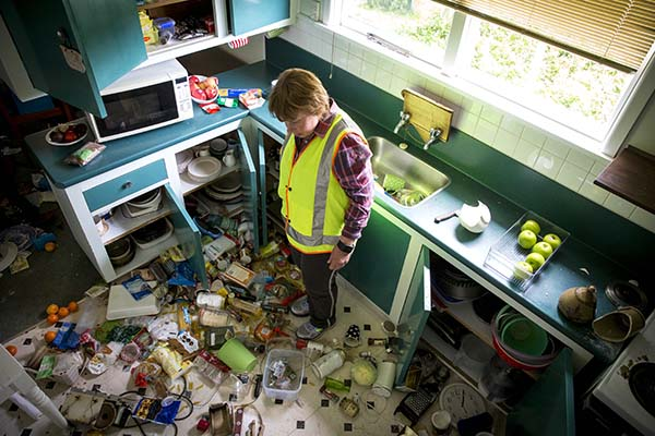 <div class='meta'><div class='origin-logo' data-origin='AP'></div><span class='caption-text' data-credit='Mike Scott/New Zealand Herald via AP'>Mary Kimber stands in her kitchen following an earthquake in Waiau, New Zealand Monday, Nov. 14, 2016.</span></div>