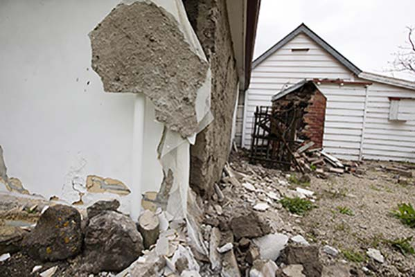 <div class='meta'><div class='origin-logo' data-origin='AP'></div><span class='caption-text' data-credit='Mike Scott/New Zealand Herald via AP'>The walls of a historic church are damaged in Waiau after a earthquake in Waiau, New Zealand Monday, Nov. 14, 2016. A</span></div>