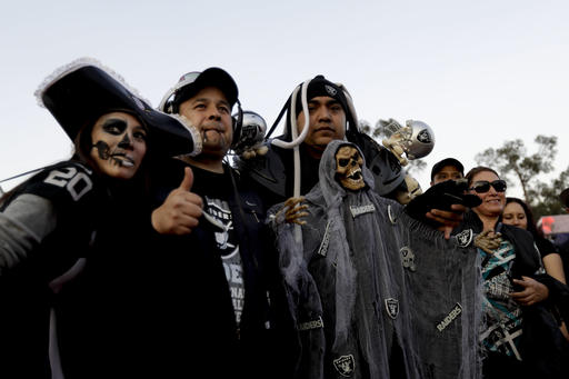 <div class='meta'><div class='origin-logo' data-origin='AP'></div><span class='caption-text' data-credit='AP'>Fans arrive at Azteca Stadium before an NFL football game between the Houston Texans and the Oakland Raiders Monday, Nov. 21, 2016, in Mexico City.</span></div>