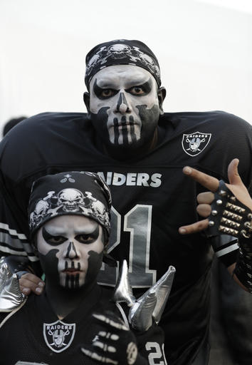 <div class='meta'><div class='origin-logo' data-origin='AP'></div><span class='caption-text' data-credit='AP Photo/Rebecca Blackwell'>Oakland Raiders fans arrive to Azteca Stadium before an NFL football game against the Houston Texans Monday, Nov. 21, 2016, in Mexico City.</span></div>