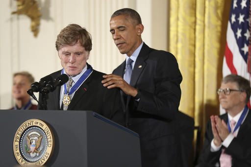 "<div class=""meta image-caption""><div class=""origin-logo origin-image ap""><span>AP</span></div><span class=""caption-text"">President Barack Obama presents the Presidential Medal of Freedom to actor Robert Redford, Nov. 22, 2016, in Washington. (AP Photo/Manuel Balce Ceneta) (AP)</span></div>"