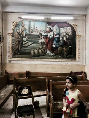 <div class='meta'><div class='origin-logo' data-origin='AP'></div><span class='caption-text' data-credit='AP'>A girl looks at damage inside the St. George Church after a suicide bombing, in the Nile Delta town of Tanta, Egypt, Sunday, April 9, 2017. (AP Photo/Nariman El-Mofty)</span></div>