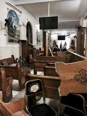 <div class='meta'><div class='origin-logo' data-origin='AP'></div><span class='caption-text' data-credit='AP'>Pews are overturned inside the St. George Church after a suicide bombing, in the Nile Delta town of Tanta, Egypt, Sunday, April 9, 2017. (AP Photo/Nariman El-Mofty)</span></div>