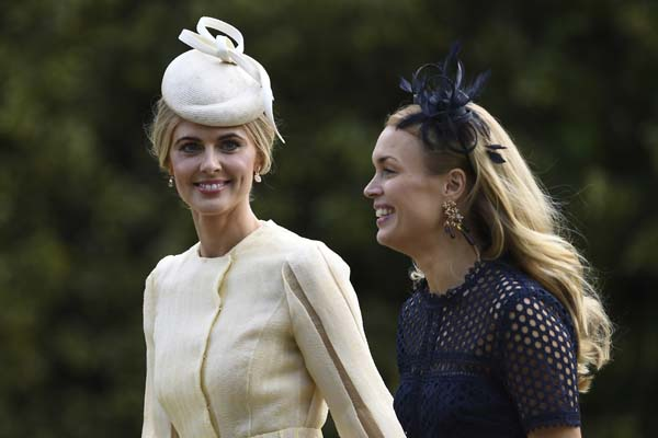 <div class='meta'><div class='origin-logo' data-origin='AP'></div><span class='caption-text' data-credit='AP'>Donna Air, left, arrives at St Mark's Church in Englefield, England, ahead of the wedding of Pippa Middleton and James Matthews, Saturday, May 20, 2017. (Justin Tallis/Pool via AP)</span></div>