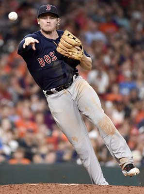 "<div class=""meta image-caption""><div class=""origin-logo origin-image ap""><span>AP</span></div><span class=""caption-text"">Boston Red Sox third baseman Josh Rutledge throws out Houston Astros' Derek Fisher during the sixth inning  (AP Photo/Eric Christian Smith) (AP)</span></div>"