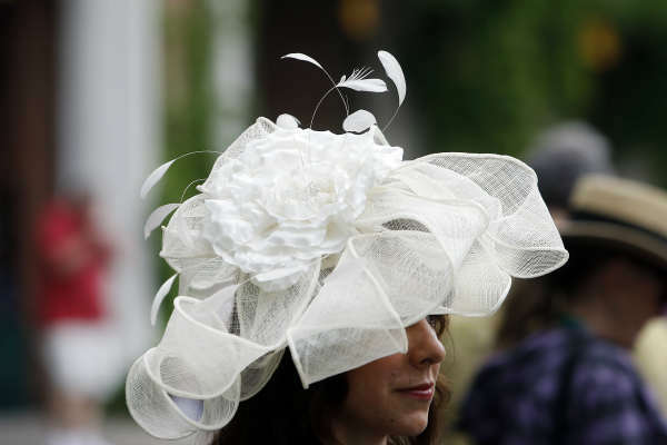 "<div class=""meta image-caption""><div class=""origin-logo origin-image none""><span>none</span></div><span class=""caption-text"">Shaena Kershner, of Buffalo, N.Y., wears an elaborate hat before the 147th running of the Belmont Stakes horse race at Belmont Park. (AP Photo/ Jason DeCrow)</span></div>"