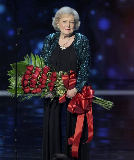 <div class='meta'><div class='origin-logo' data-origin='none'></div><span class='caption-text' data-credit='Chris Pizzello/Invision/AP'>Betty White accepts the award for favorite TV icon at the People's Choice Awards on Wednesday, Jan. 7, 2015, in Los Angeles.</span></div>