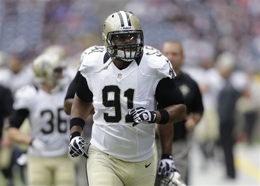 <div class='meta'><div class='origin-logo' data-origin='none'></div><span class='caption-text' data-credit='AP'>Will Smith as a member of the New Orleans Saints</span></div>