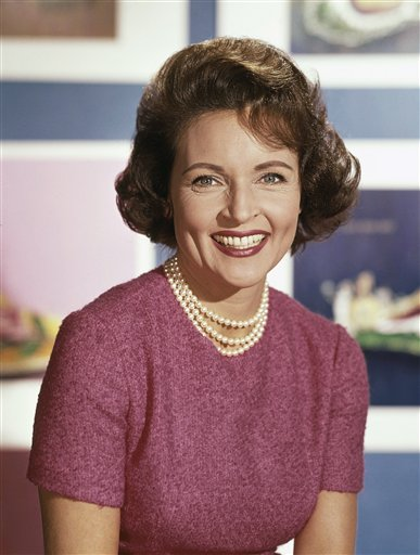 <div class='meta'><div class='origin-logo' data-origin='none'></div><span class='caption-text' data-credit='ASSOCIATED PRESS'>Actress Betty White in 1965. (AP Photo)</span></div>