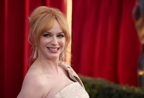 <div class='meta'><div class='origin-logo' data-origin='none'></div><span class='caption-text' data-credit='Matt Sayles/Invision/AP'>Christina Hendricks arrives at the 22nd annual Screen Actors Guild Awards at the Shrine Auditorium & Expo Hall on Saturday, Jan. 30, 2016,  (Photo by Matt Sayles/Invision/AP)</span></div>