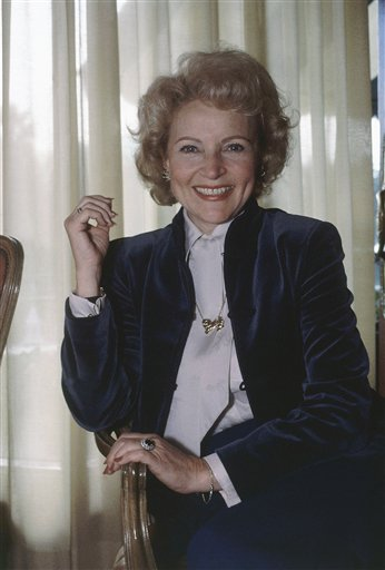 <div class='meta'><div class='origin-logo' data-origin='none'></div><span class='caption-text' data-credit='ASSOCIATED PRESS'>Actress Betty White at an interview, Jan. 22, 1982 at Beverly Hills hotel in Calif. (AP Photo/Reed Saxon)</span></div>