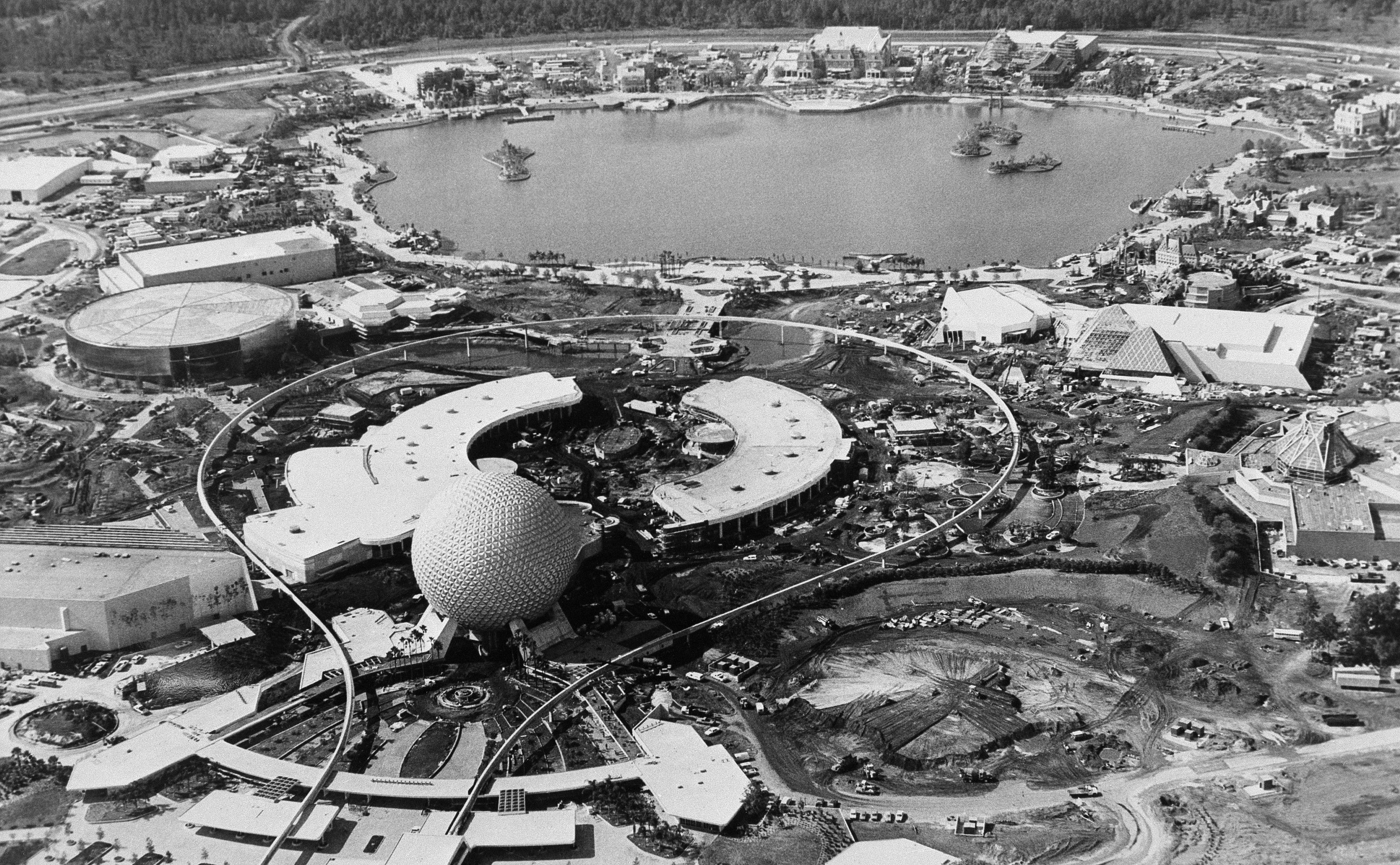<div class='meta'><div class='origin-logo' data-origin='none'></div><span class='caption-text' data-credit='AP Photo/Scott Maclay'>EPCOT Center, Walt Disney World's $800 million international showcase at Orlando, continues progress towards a grand opening is shown July 20, 1982.</span></div>