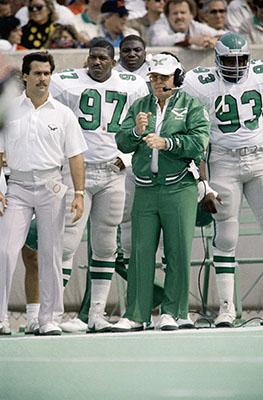 <div class='meta'><div class='origin-logo' data-origin='none'></div><span class='caption-text' data-credit='AP'>Philadelphia Eagles head coach Buddy Ryan signals in a play during a game in 1986, his first season with the Eagles.  (AP Photo/Mark Elias)</span></div>
