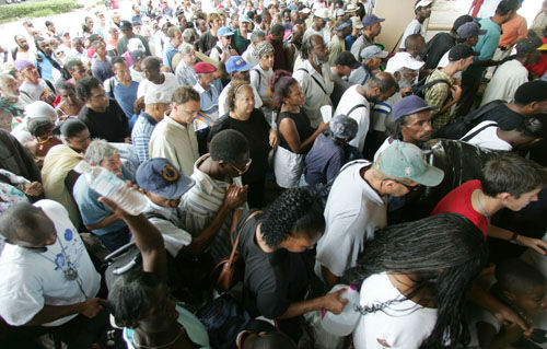 "<div class=""meta image-caption""><div class=""origin-logo origin-image none""><span>none</span></div><span class=""caption-text"">Hundreds of residents funnel into the Louisiana Superdome in New Orleans on Sunday, Aug. 28, 2005.  (Photo/DAVE MARTIN)</span></div>"