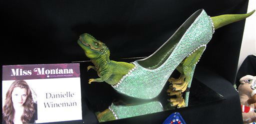 "<div class=""meta image-caption""><div class=""origin-logo origin-image none""><span>none</span></div><span class=""caption-text"">The footwear that Miss Montana will wear in the Miss America pageant's ""Show Us Your Shoes"" parade is on display Tuesday, Sept. 8, 2015 in Atlantic City, N.J. (AP Photo/ Wayne Parry)</span></div>"
