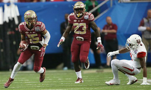 <div class='meta'><div class='origin-logo' data-origin='none'></div><span class='caption-text' data-credit=''>Photos from the Chic-fil-A Peach Bowl between Houston and Florida State (AP)</span></div>