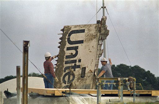 <div class='meta'><div class='origin-logo' data-origin='none'></div><span class='caption-text' data-credit='AP Photo/ James Neihouse'>The Challenger is making its final journey this week as workers transport the debris recovered after the January 28, 1986 disasterif necessary. (AP Photo/James Neihouse)</span></div>