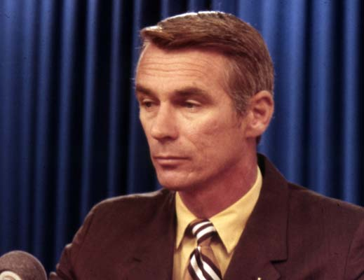 <div class='meta'><div class='origin-logo' data-origin='AP'></div><span class='caption-text' data-credit='AP'>U.S. American navy commander and astronaut for the upcoming Apollo 17 mission in 1972, Eugene Cernan, is pictured in plain clothees, 1971.  (AP Photo)</span></div>