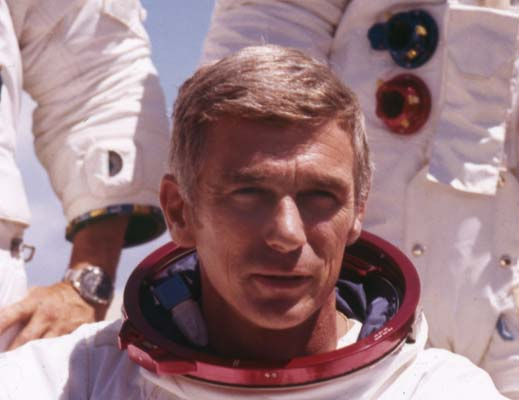 <div class='meta'><div class='origin-logo' data-origin='AP'></div><span class='caption-text' data-credit='AP'>U.S. American navy commander and astronaut for the upcoming Apollo 17, Eugene Cernan, is pictured in his space suit, 1972.  (AP Photo)</span></div>