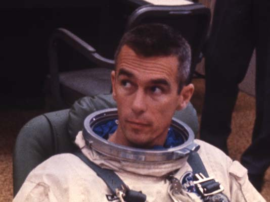 <div class='meta'><div class='origin-logo' data-origin='AP'></div><span class='caption-text' data-credit='AP'>U.S. American navy commander and astronaut for the upcoming Apollo 10 mission, Eugene Cernan, is pictured in his space suit, 1969.  (AP Photo)</span></div>